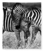 Zebra Hug 2 Fleece Blanket
