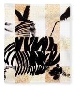 Zebra In Flight Fleece Blanket