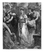 Zenobia (d. After 274 A.d.) Fleece Blanket