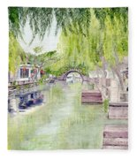 Zhou Zhuang Watertown Suchou China 2006 Fleece Blanket