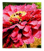 Zinnia Blast Fleece Blanket