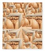 Zinnia To Infinity Fleece Blanket