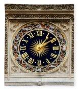 Zodiac Clock Fleece Blanket
