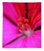Zonal Geranium Named Tango Neon Purple Fleece Blanket