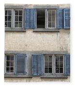 Zurich Window Shutters Fleece Blanket