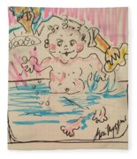 Bathing Time Fleece Blanket