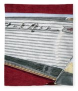 1957 Chevrolet Bel Air Convertible Fleece Blanket