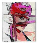 # 39 Charlize Theron Portrait Fleece Blanket