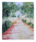 A Country Road Fleece Blanket