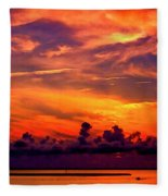 ... And As The Sun Sets On Another Beautiful Day Fleece Blanket