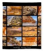 ' Australia Rocks ' - Maria Island - Tasmania Fleece Blanket