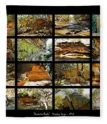 ' Australia Rocks ' - The Dripping Gorge - New South Wales Fleece Blanket