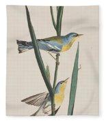 Blue Yellow-backed Warbler Fleece Blanket