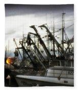 Boats With Sprays Of Light Fleece Blanket