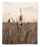 Broadleaf Cattail 1 Fleece Blanket