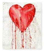 Broken Heart - Bleeding Heart Fleece Blanket