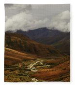 Brooks Range, Dalton Highway And The Trans Alaska Pipeline  Fleece Blanket
