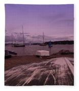 Canadian Harbor At Dusk  Fleece Blanket