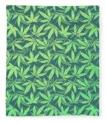 Cannabis   Hemp  420   Marijuana  Pattern Fleece Blanket