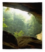 Cave Entrance In Ohio Fleece Blanket