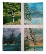 Colors Of Landscape Fleece Blanket
