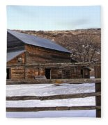 Country Barn Fleece Blanket