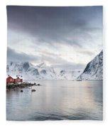 Dawn At Hamnoy On The Lofoten Islands Fleece Blanket