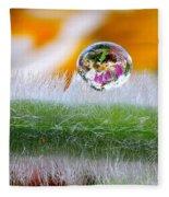 Drop Of Rain On The Pod Lupine Fleece Blanket