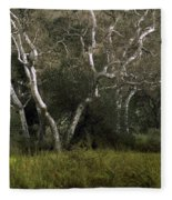 Dv Creek Trees Fleece Blanket