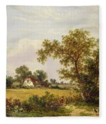 Essex Landscape  Fleece Blanket