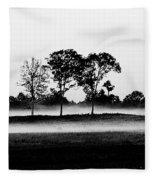 Evening Mist Black And White Fleece Blanket