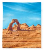 Famous Delicate Arch In Arches National Park Fleece Blanket