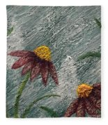 Flowers In The Breeze Fleece Blanket