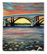 Folsom Bridge Fleece Blanket
