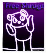 Free Shrugs  Fleece Blanket