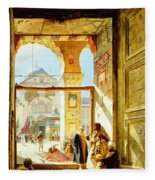 Gate Of The Great Mosque. Damascus Fleece Blanket