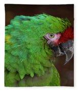Great Green Macaw Ara Ambiguus Fleece Blanket