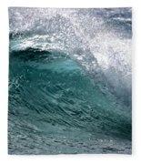 Green Cresting Wave, Hawaii Fleece Blanket