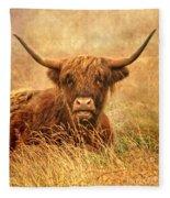 Happy Highlander Fleece Blanket