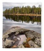 Haukkajarvi Landscape Fleece Blanket