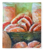 Mandarin Oranges  Fleece Blanket