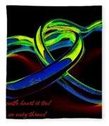 Heart Rings Fleece Blanket