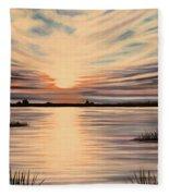Highlights Of A Sunset Fleece Blanket