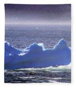 Iceberg Floating By Fleece Blanket
