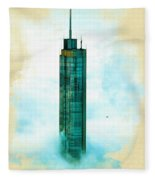 Illustration Of  Trump Tower Fleece Blanket