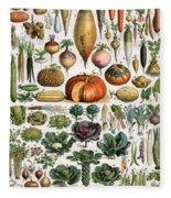 Illustration Of Vegetable Varieties Fleece Blanket