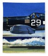 Into The Blue American War Planes Fleece Blanket