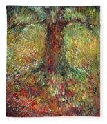Invisible Tree Fleece Blanket