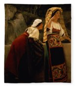 Italian Women From Abruzzo  Fleece Blanket
