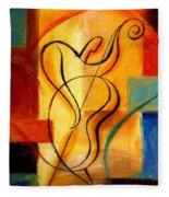 Jazz Fusion Fleece Blanket